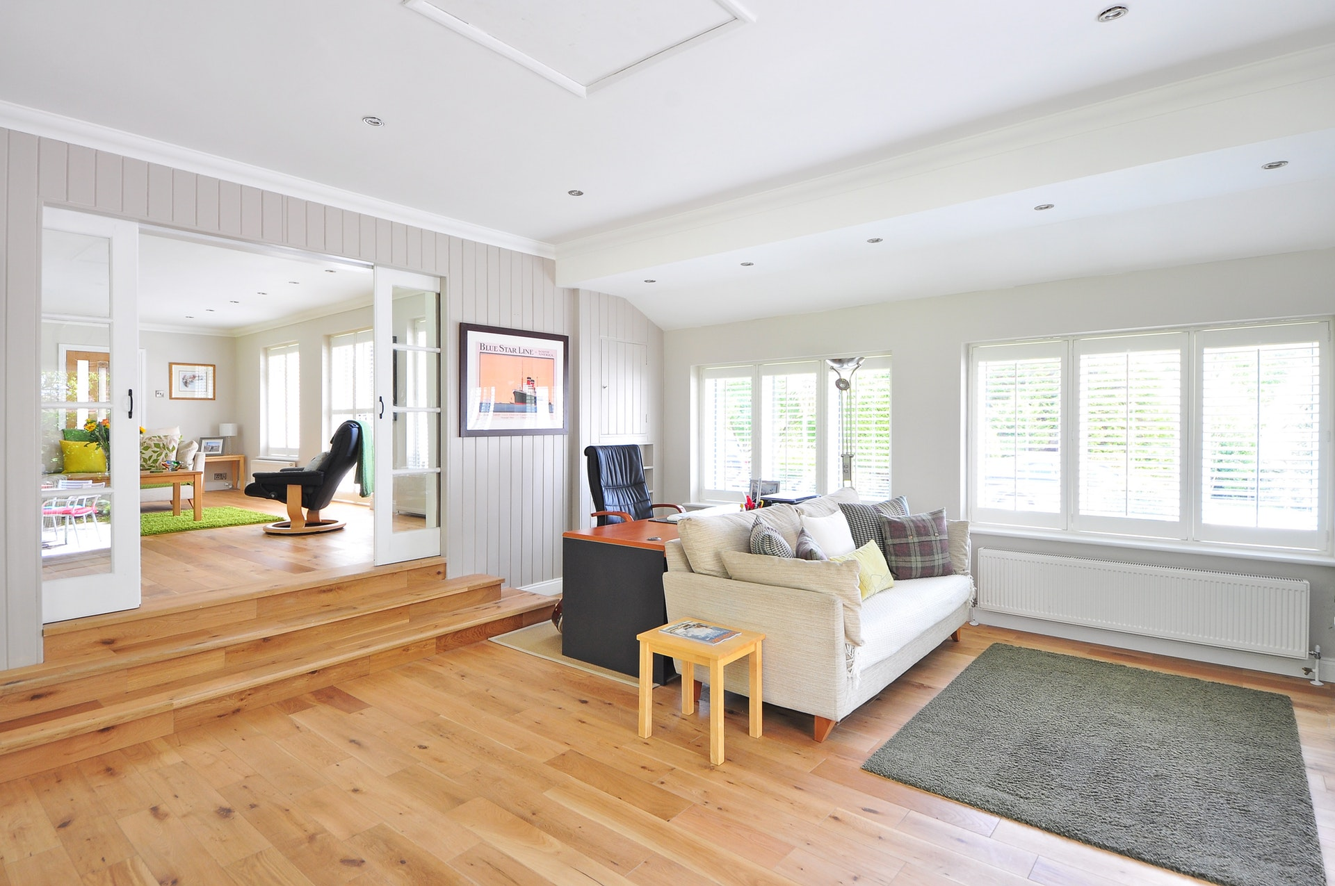 Bamboo Flooring in the living room