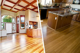 2 different flooring designs